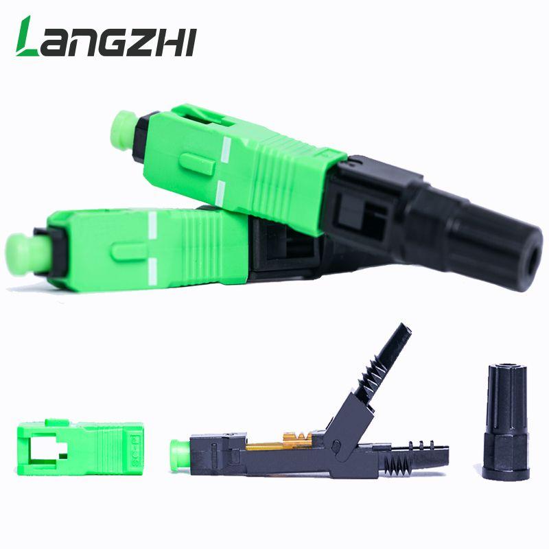 100 PCS/box FTTH SC APC single-mode fiber optic SC APC schnelle stecker SC APC FTTH Faser optic Schnelle Stecker fiber splicer