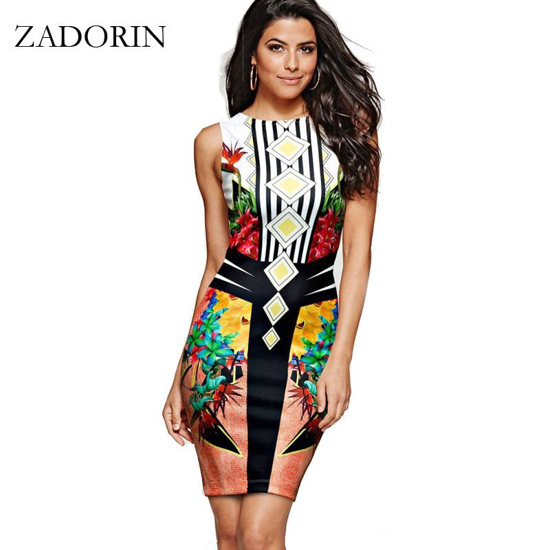 Europe mode Floral inde moulante robe crayon femmes décontracté robe d'été Sexy Club robes femmes vêtements