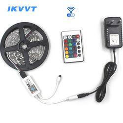 IKVVT 5 M 5050 RGB WIFI LED Kit Lumière De Bande Imperméable À L'eau RVB 30 LED/M 10 M 15 M LED ruban bande Lampe À Distance wifi Sans Fil Contrôleur