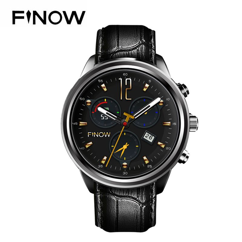 New Finow X5 Air Smart Watch Ram 2GB/Rom 16GB MTK6580 Quad Core Watchphone Android 5.1 3G Bluetooth Smartwatch for Andorid/IOS