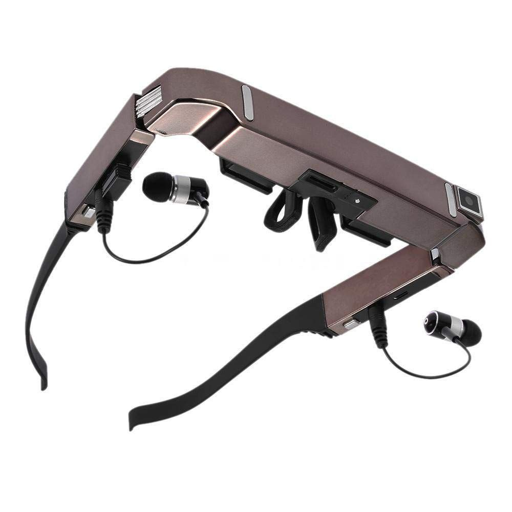 VISION-800 Smart Android WiFi Glasses 80 inch Wide Screen Portable Video 3D Glasses Private Theater with Camera Bluetooth Medi