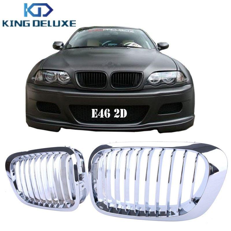 2x Chrome Front Grille Grill Lattice For BMW E46 2Door 3 Series Coupe Convertible 330Ci 325Ci 328Ci 323Ci 1999-2006 #P46
