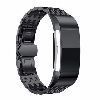 ЛНО ремешок для Fitbit charge 2 диапазона нержавеющая сталь fitbit замена группы смарт-ремешок браслет металлический браслет