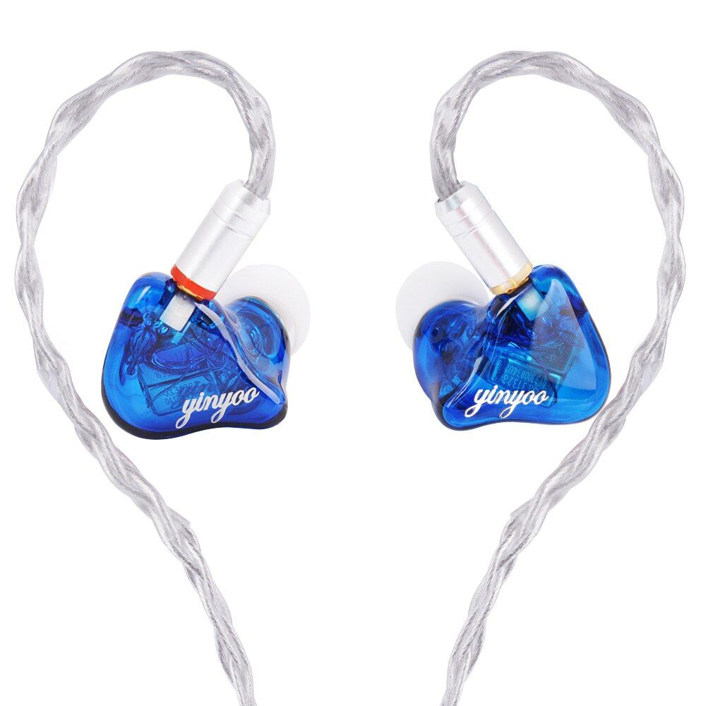 Yinyoo HQ6 6BA in Ear Earphone Custom Made Balanced Armature Around Ear Earphone Headset Earbuds With MMCX Same as QDC Shell