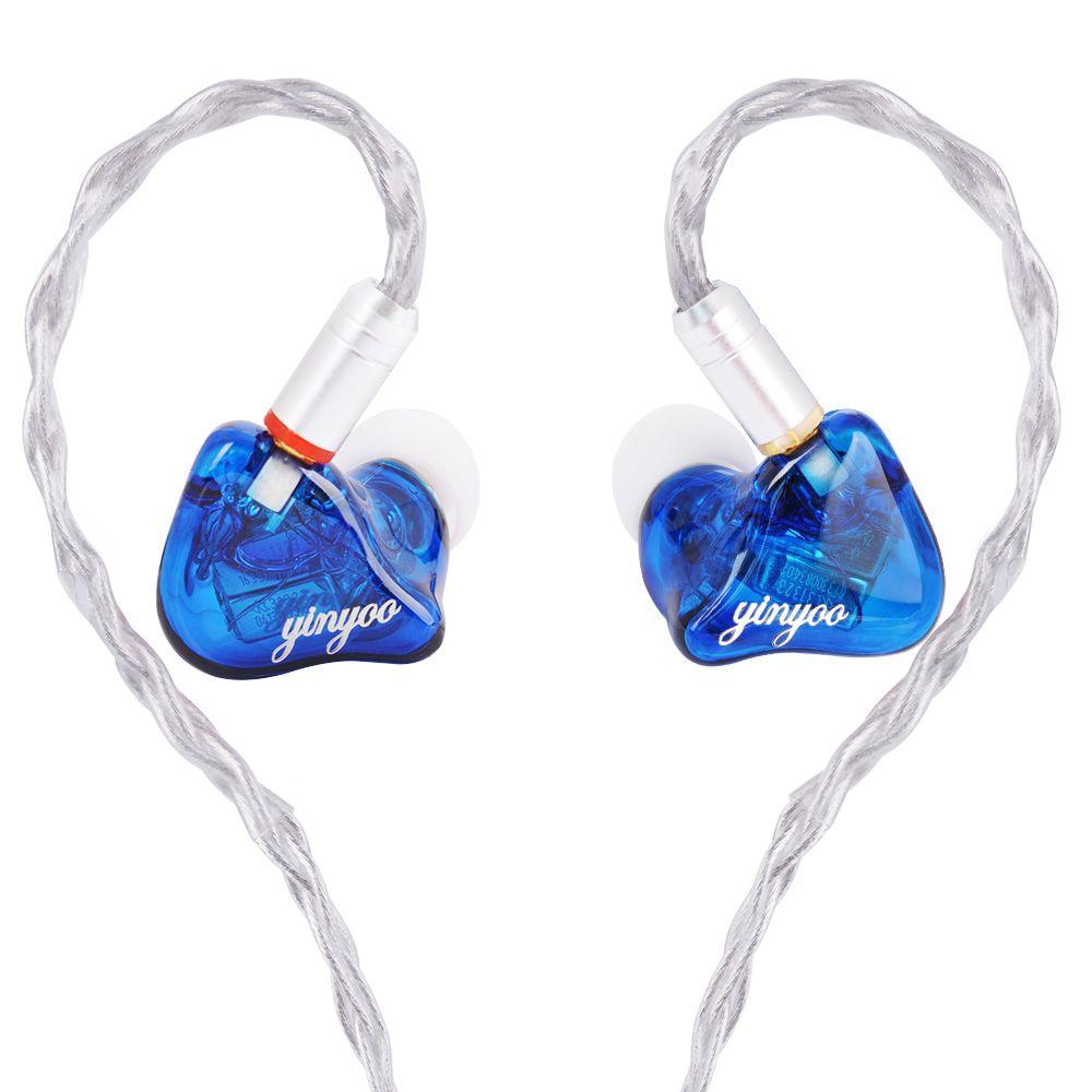Yinyoo HQ6 6BA in Ohr Kopfhörer Nach Maß Ausgewogene Anker Um Ohr Kopfhörer Headset Ohrhörer Mit MMCX Gleiche wie QDC shell
