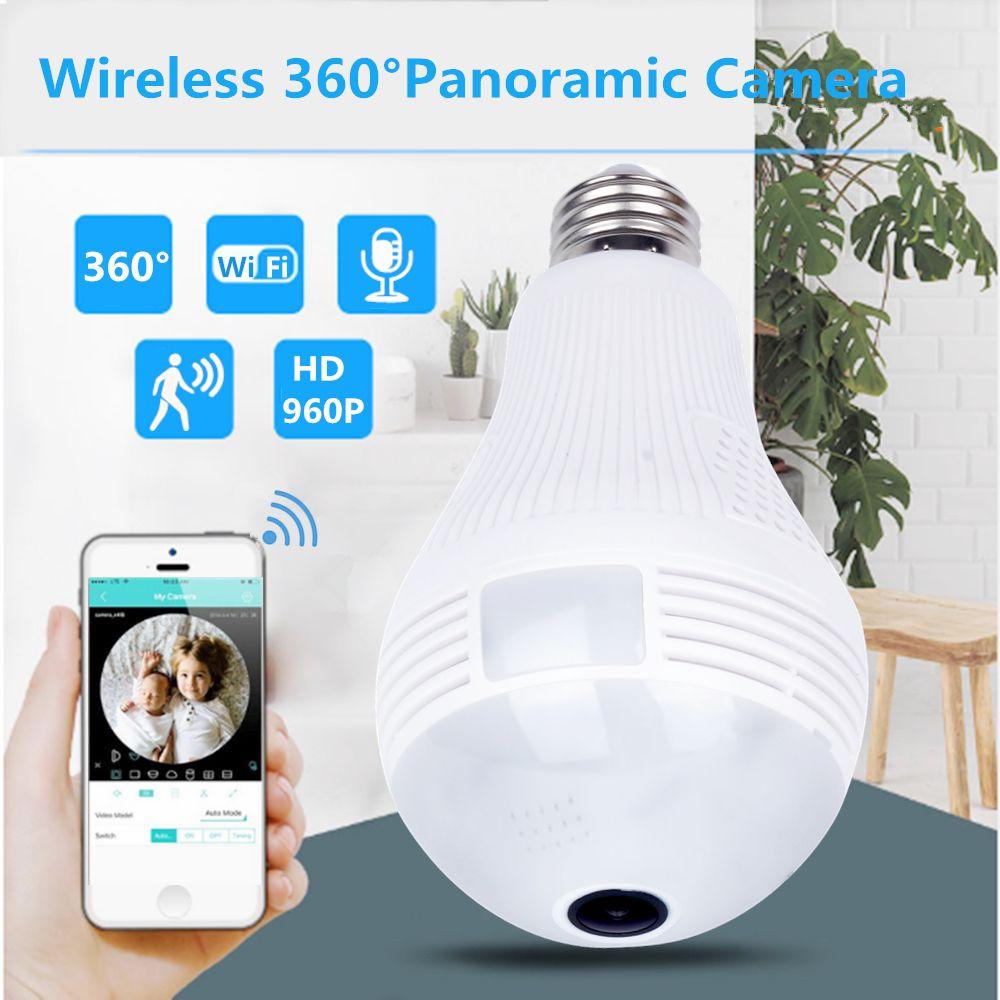 ZILNK ampoule lampe WI-FI IP caméra 960 P HD panoramique 3D VR Fisheye lumière 360 degrés sans fil sécurité à domicile CCTV Vision nocturne iCSee
