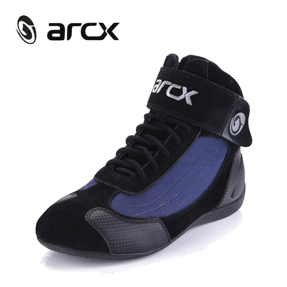 ARCX Motorcycle Boots Motorcycle Shoes Men Moto Boots Street Moto Ankle Boots Chopper Cruiser Touring Biker Boots L60053