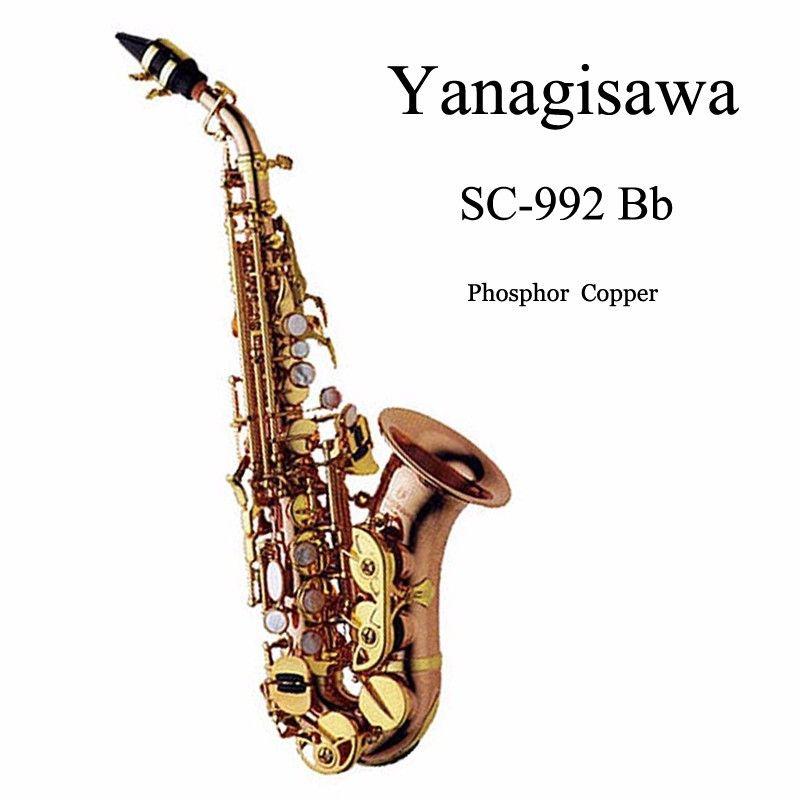 Yanagisawa SC-992 Bb saxophone soprano Phosphor Copper professional sax mouthpiece gold lacquer brass instruments