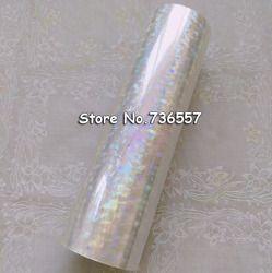 Foil hologram transparan Y04 hot stamping foil untuk kertas atau plastik 16 cm x 120 m Shattered Kaca