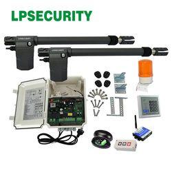 220V AC Heavy Duty Worm Gear Automatic Swing Gate Opener(photocells,lamp,button,keypad,gms operator optional)