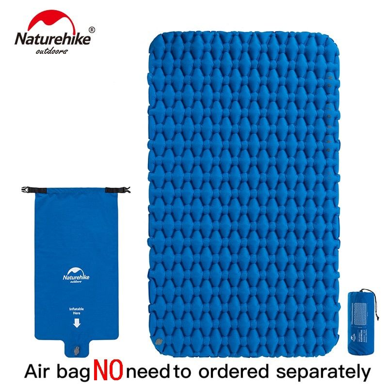 Naturehike Lightweight Moisture-proof Air Mattress Nylon TPU Sleeping Pad Inflatable Mattress Camping Mat For 2Person NH19Z055-P