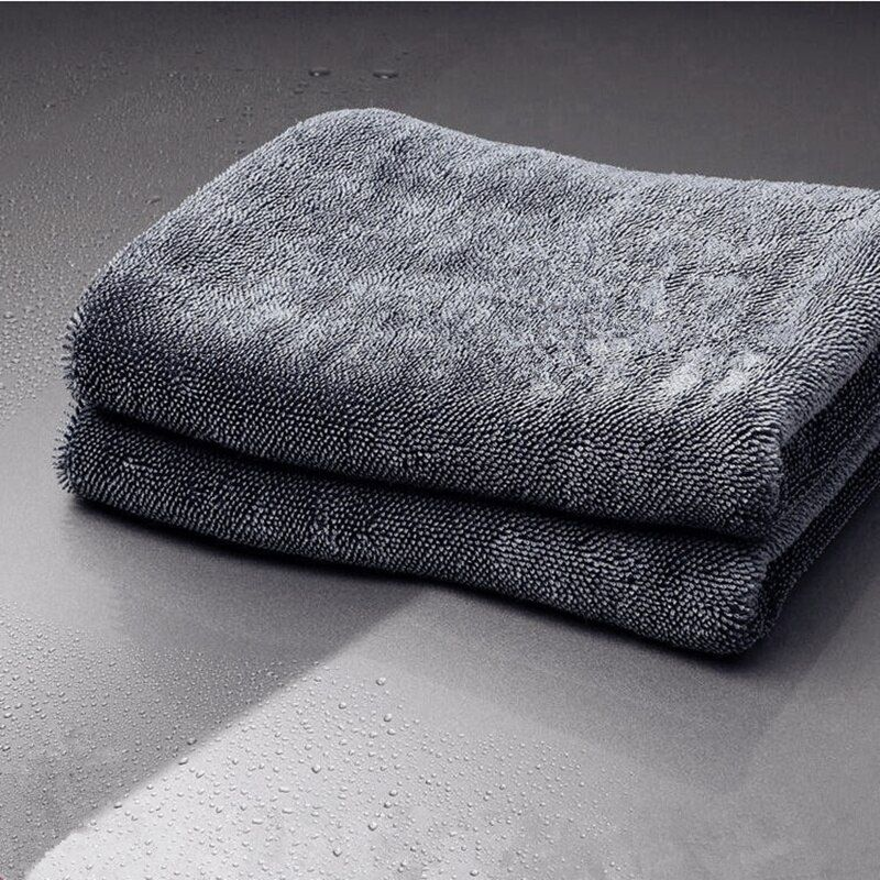 Lucullan 40X60 cm longue torsion Pile microfibre tissu de séchage Super absorbant tourbillon serviette gratuite pour fenêtre de peinture points manqués