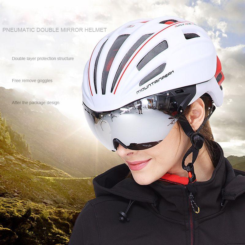 Mountain unibody fahrrad reiten helm brille mit mountainbike helme und brille reiten getriebe radfahren helm