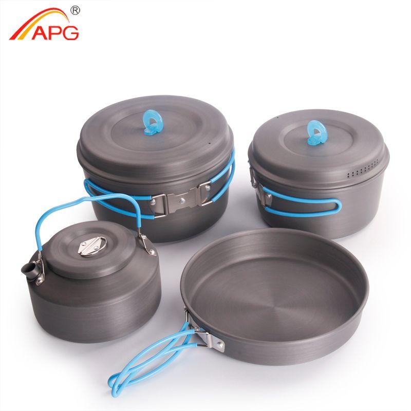 Casseroles de camping ultra-légères APG et ustensiles de cuisine de camping portables