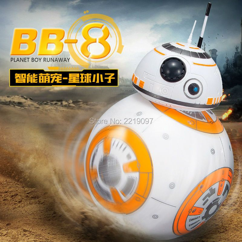 Fast Shipping BB-8 Ball Star Wars RC Action Figure BB 8 Droid Robot 2.4G Remote Control Intelligent Robot BB8 Model Kid Toy Gift