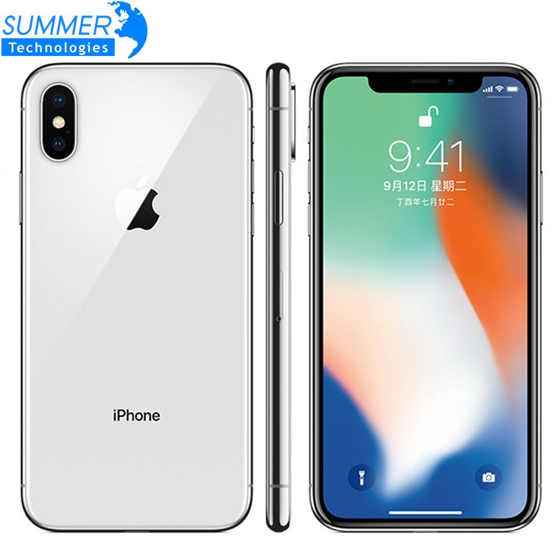 Original Entsperrt Apple iPhone X Hexa Core Handy 256 GB/64 GB ROM 3GB RAM Dual Hinten kamera 12MP 5,8
