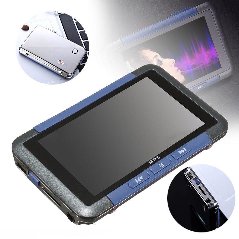 1PC 3'' Slim LCD Screen MP5 Video Music Media Player High Quality FM Radio Recorder MP3 MP4 8GB Blue Mayitr