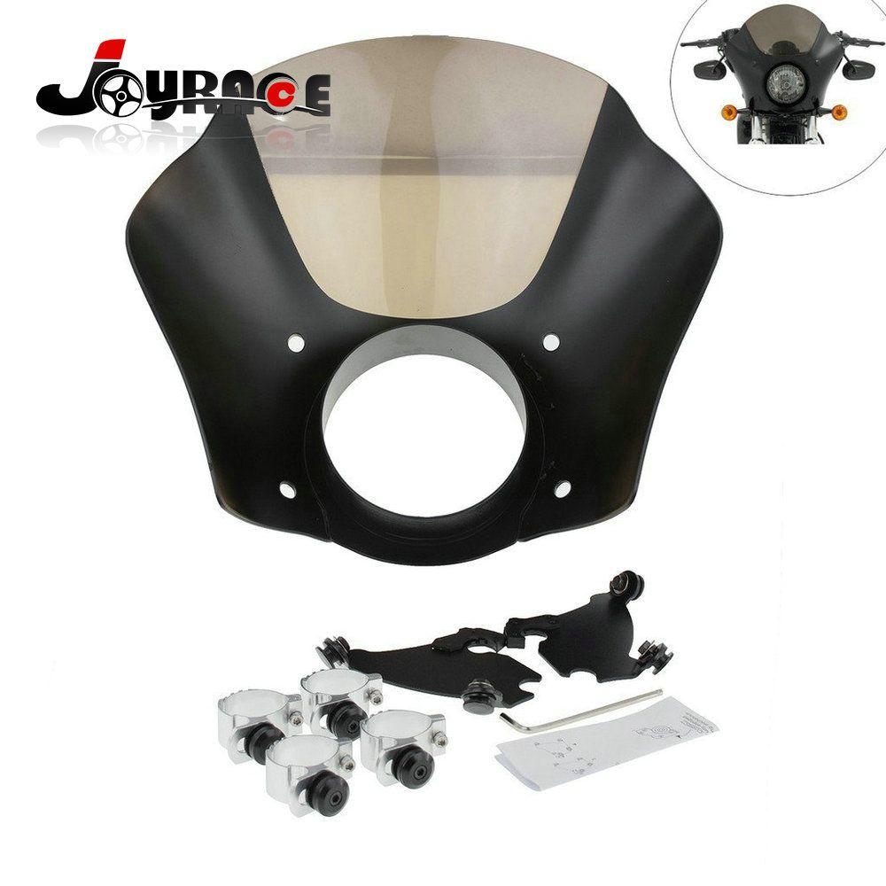 41mm 49mm Front Gauntlet Headlight Fairing W/Trigger Lock Mount Kit For Harley XL 1200 883 Dyna Models