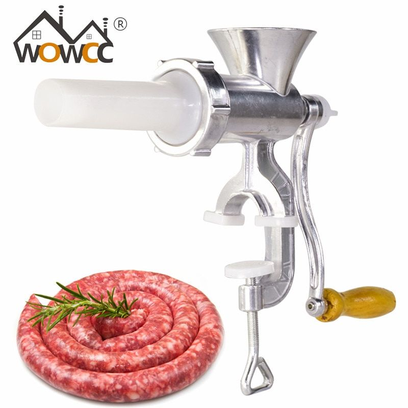 Wowcc Многофункциональный Мясорубка Колбаса чайник Алюминий сплав бытовой ручной колбаса наполнитель Таблица рукоятка Кухня Инструменты