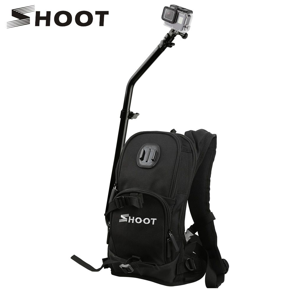SHOOT Motorcycle Bicycle Selfie Backpack Men Camera Backpack Travel Bag Multifunctional Waterproof Backpack Cam Bag for GoPro 7