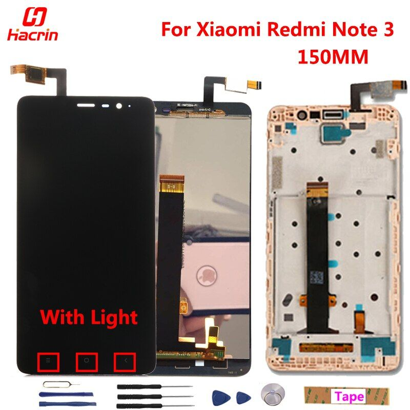 Xiaomi Redmi Note 3 Pro LCD Display + Touch Screen 5.5 Digitizer <font><b>Assembly</b></font> Replacement For Xiaomi Redmi Note 3 Pro/Prime Phone