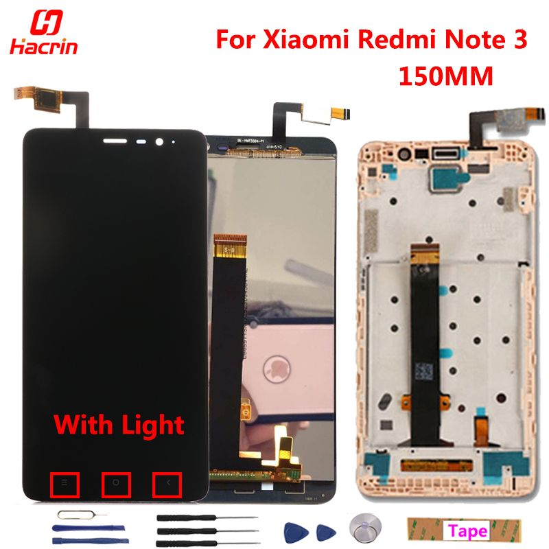 Xiaomi Redmi Note 3 Pro LCD <font><b>Display</b></font> + Touch Screen 5.5 Digitizer Assembly Replacement For Xiaomi Redmi Note 3 Pro/Prime Phone