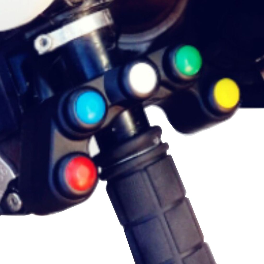Dewtreetali new hot 5 button Motorcycle switch/switches button 7/8 22mm handlebar /lights /on-off button waterproof