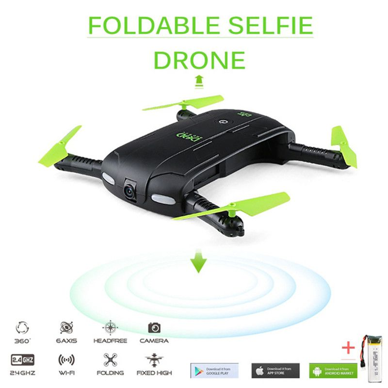 DHD D5 Selfie FPV Drone With FPV HD Camera Foldable Pocket RC Drones Phone Control Helicopter VS JJRC H37 Mini Quadcopter Toys