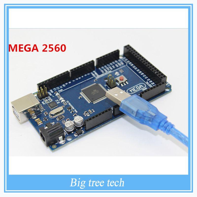 Livraison Gratuite Sduino Mega 2560 R3 Mega2560 REV3 Conseil ATmega2560-16AU + Câble USB Compatible de Bonne Qualité À Faible Prix