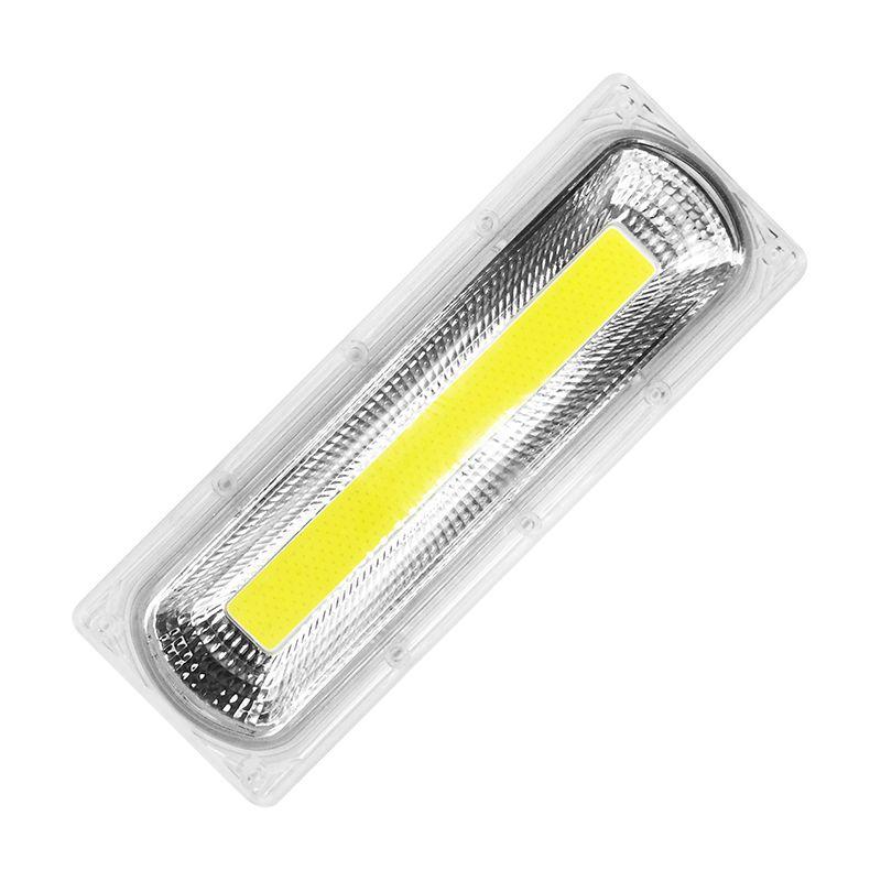 1 ensemble COB led perle de lampe + Lentille Réflecteur 30 W 50 W 70 W 100 W 150 W 110 220 V Comprennent: PC Lentille + Réflecteur + anneau de silicone bricolage Pour Projecteur