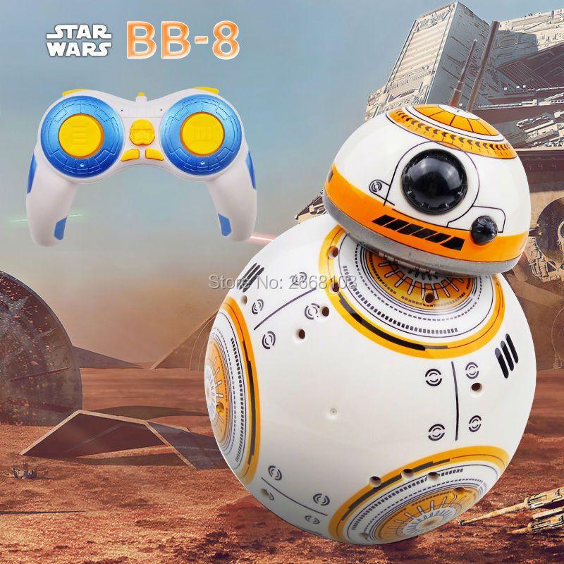 Livraison rapide Star Wars BB-8 2.4G télécommande Robot mise à jour Version BB8 Robot intelligent sons RC balle cadeaux jouet pour garçon enfants