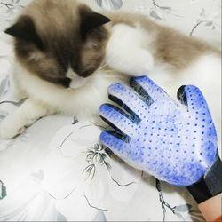 Silicona Pet Hackle para gato perro cepillo masajeador depilación manopla gato guante para animales peine gatos Grooming Accesorios