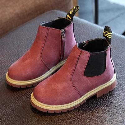 2016 Children Boots Boys Snow Waterproof Shoes Kids Leather Boots Boy Boots Girls Martin Warm Shoes Sport Shoes 26-36D