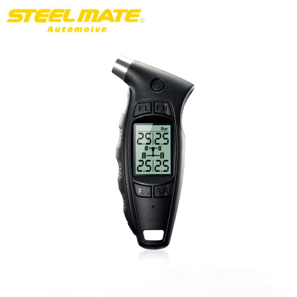 Steelmate Russian warehouse Original DIY LCD Display Ergonomic Handle TPMS TC-01 Handheld Digital Tire Pressure Gauge steel mate