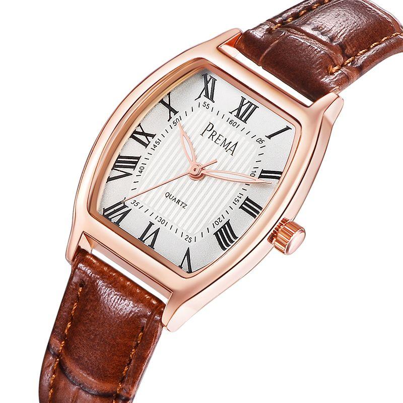 PREMA marque femmes montres mode femme montre 2019 dames montre à quartz décontractée en cuir horloge montre-bracelet femmes livraison directe