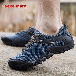 2019 Sepatu Olahraga Outdoor Pria Merek Hiking Sepatu Sneakers Pria Sepatu Trekking Mendaki Gunung Berjalan Anti-Selip Off- peta NE71