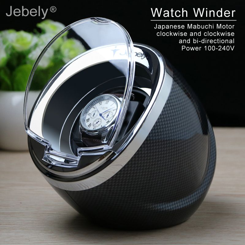Jebely Black Single Watch Winder for automatic watches automatic winder Multi-function 5 Modes Watch Winders 1 JA003