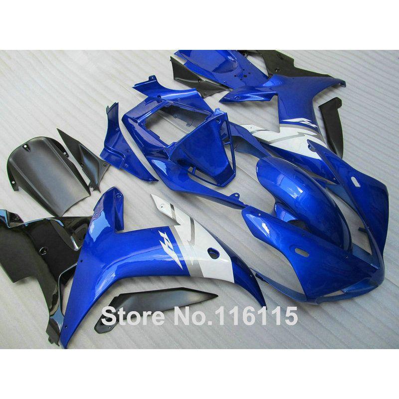 Verkleidung kit für YAMAHA R1 2002 2003 schwarz weiß blau verkleidungen spritzguss YZF R1 02 03 vollen satz body kits YZ22