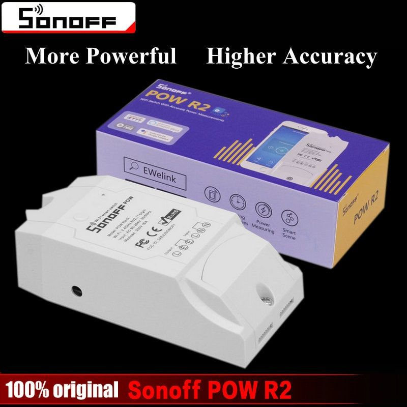 Sonoff Pow R2 Smart Wifi <font><b>Switch</b></font> Controller With Real Time Power Consumption Measurement 16A/3500W Smart Home Device Via Android