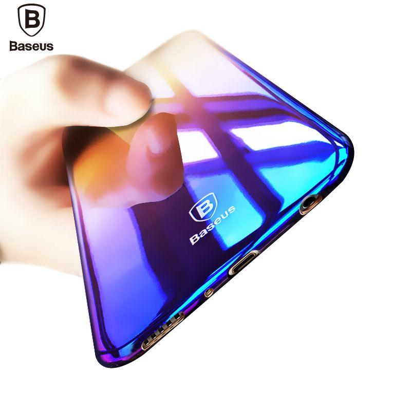 Baseus Marque Étui De Luxe Pour Samsung Galaxy S8/S8 Plus Aurora Dégradé Couleur Transparente Dur PC Housse Pour Galaxy s8 S 8 Plus