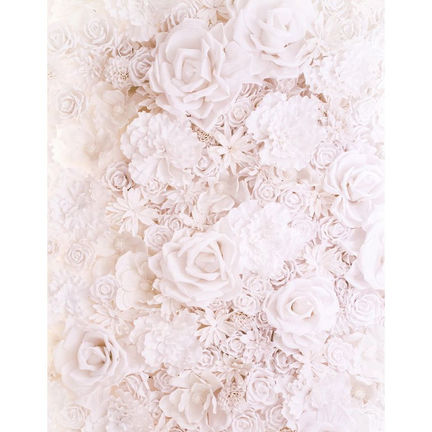 Vinyl Photography Background Computed Printed White Rose Flower Wedding Backdrops for Photo Studio S-2114