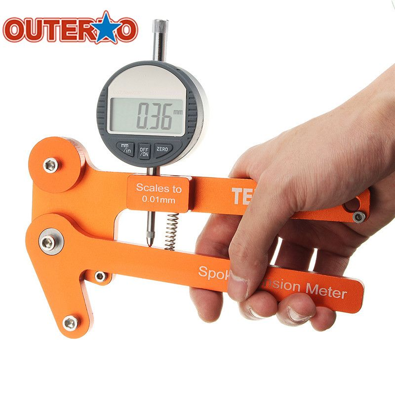 New Arrival Digital Scale 0.01mm Mechanical Spoke Tension Bicycle Indicator Attrezi Wheel Builders Tool Accessory