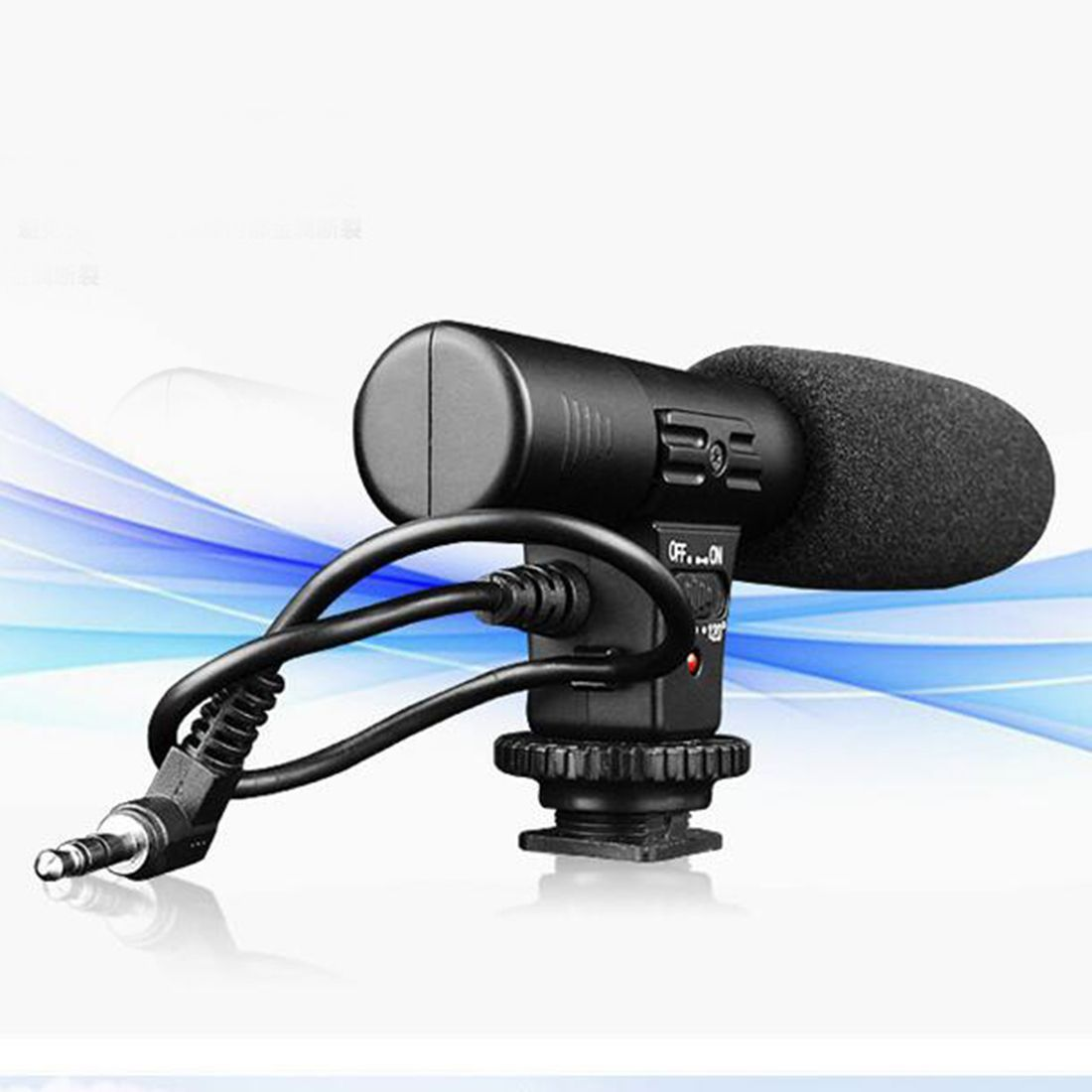 Marsnaska Professional Digital Video Stereo Studio 3.5mm Black Microphone Sgun for Canon Nikon Pentax DSLR Cameras Camcorders