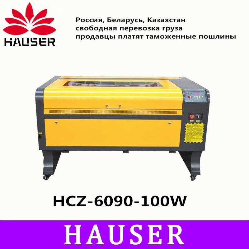 Freies Verschiffen HCZ 100 w co2 laser CNC 6090 laser gravur cutter maschine laser kennzeichnung maschine mini laser engraver cnc routerdiy