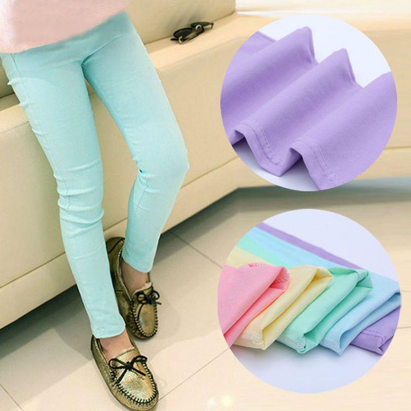 2019 printemps et automne pantalons pour enfants bonbons couleur filles pantalons bébé fille vêtements enfants filles leggings