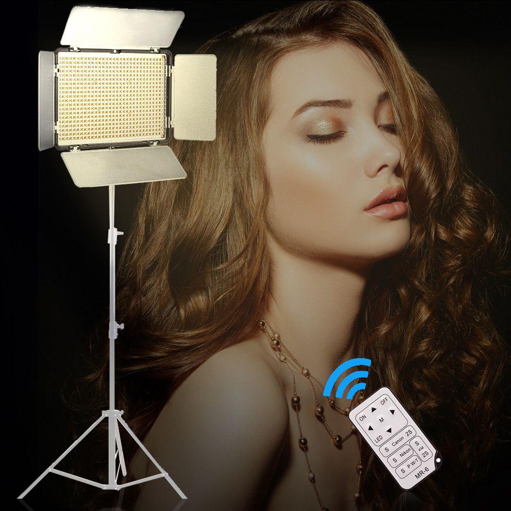 Travor 600 pièces Bi-couleur Led Vidéo Lumière 3200 K ~ 5500 K avec IR pour La Plupart Des Modèles de Canon Nikon Sony DSLR Appareil Photo et Caméscope