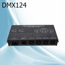 DMX124 DMX amplifier/Splitter/DMX sinyal repeater/4 output port sinyal DMX distributor AC100-240V input