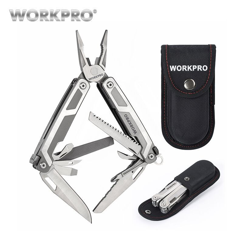 WORKPRO 16 in1 Werkzeuge Zange Edelstahl Zange Outdoor Camping Werkzeug mit Messer Schere Sah Schraubendreher
