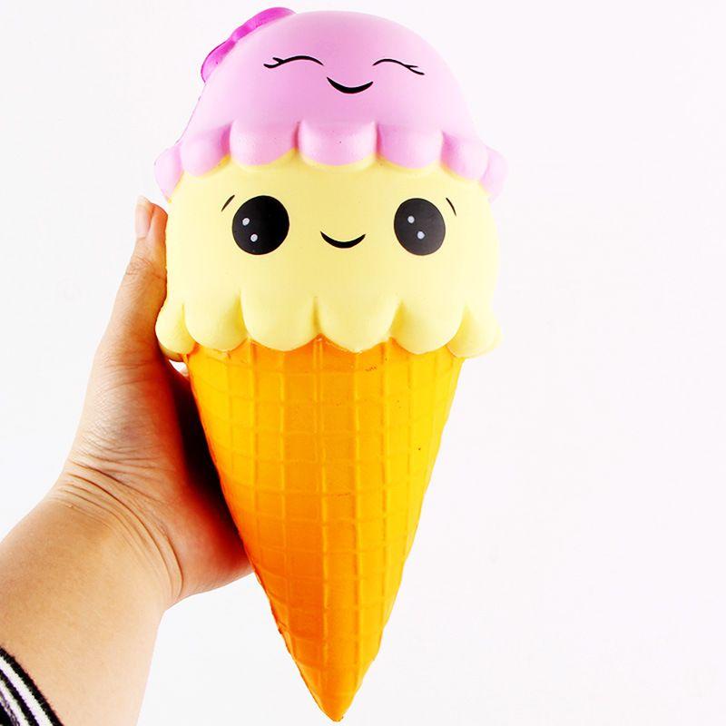 Visqueux Crème Glacée Cône Jumbo 22 cm Lente Hausse Doux Écrase belle Téléphone Sangles Jouets Stress Relief Toy Téléphone Décor Cadeau P0.11
