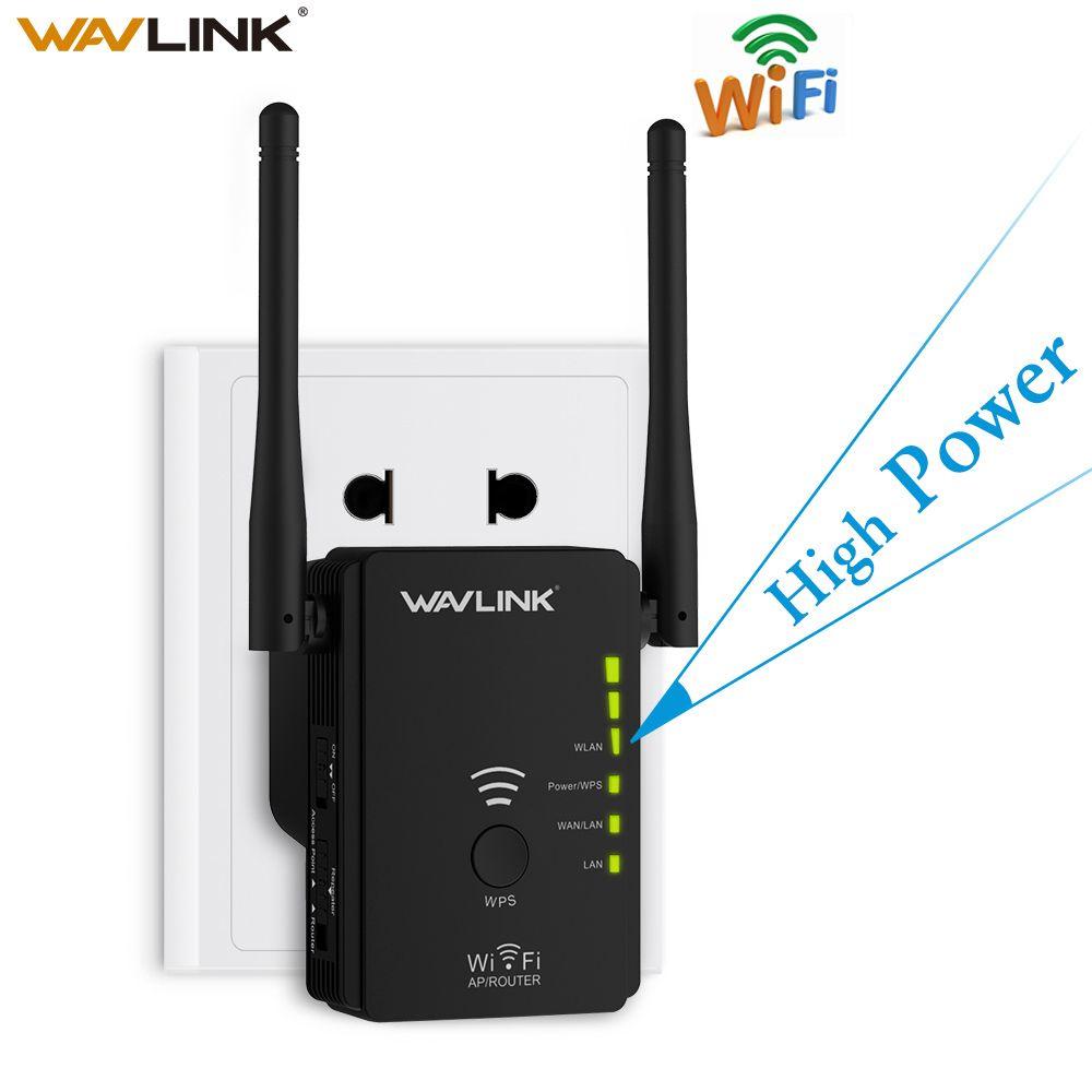Wavlink Haute Puissance Sans Fil wifi Répéteur Routeur Point D'accès AP N300 WIFI Range Extender Bouton WPS Avec 2 Externe Antennes l'UE